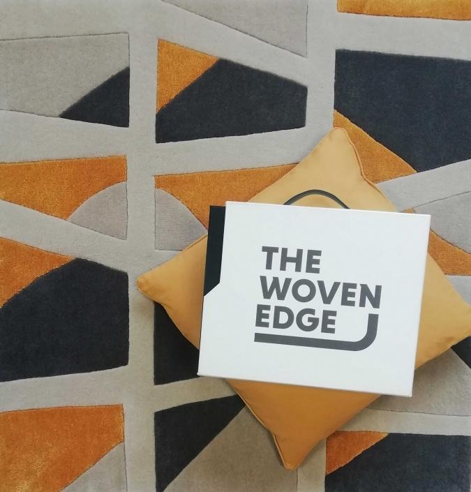 woven edge yellow navy avenue rug