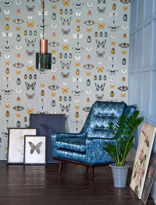 Botanica Butterfly Wallpaper