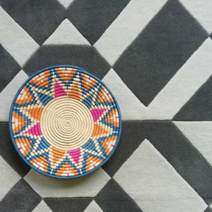 woven edge contra rug