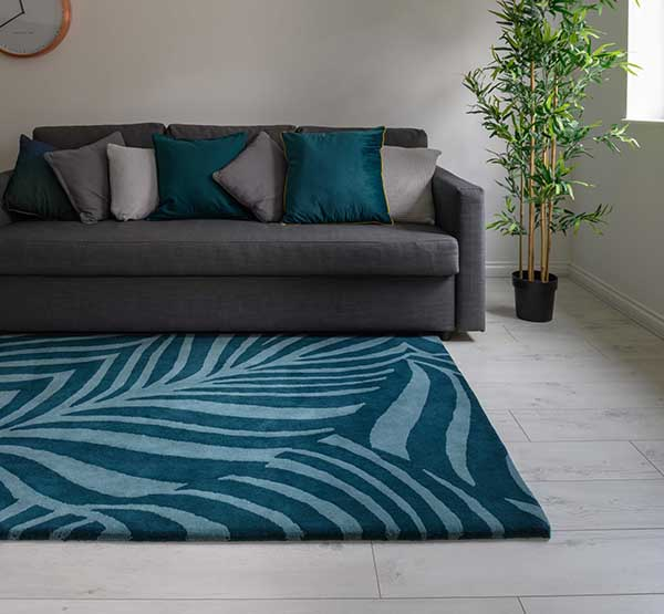 Woven Edge rug blue zebra