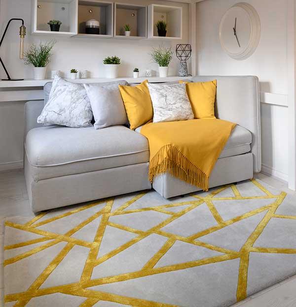 Woven Edge rug yellow