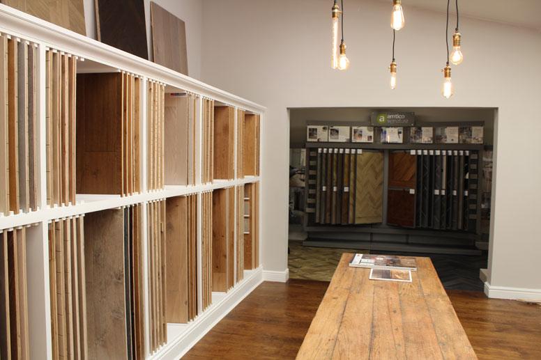 ashley-showroom wood floor samples