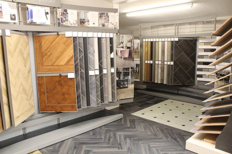 ashley showroom-wood-samples