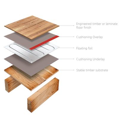 wood floor heating